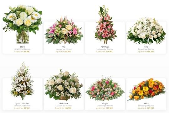 Un large choix de bouquets et de compositions de fleurs prêts à être livrer où vous le souhaitez