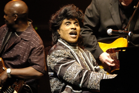 Little Richard en 2005 à Paris. Photo STEPHANE DE SAKUTIN / AFP