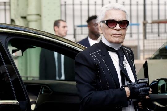 Le couturier Karl Lagerfeld - Photo AFP/FRANCOIS GUILLOT