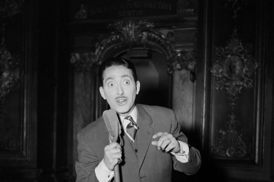 Max Doucet, plus connu sous le nom de Zappy Max, ici en 1954. Photo INTERCONTINENTALE/AFP
