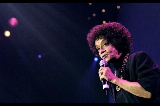 La chanteuse américaine de jazz et de soul Nancy Holloway est décédée  à Paris. Photo Stephane DE SAKUTIN/AFP
