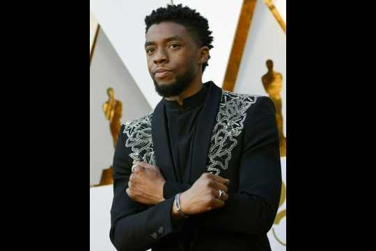 Outre Black Panther, Chadwick Boseman a aussi incarné le chanteur James Brown dans Get on Up.  Photo Valerie MACON/AFP