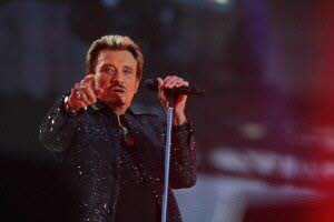 Le chanteur Johnny Hallyday