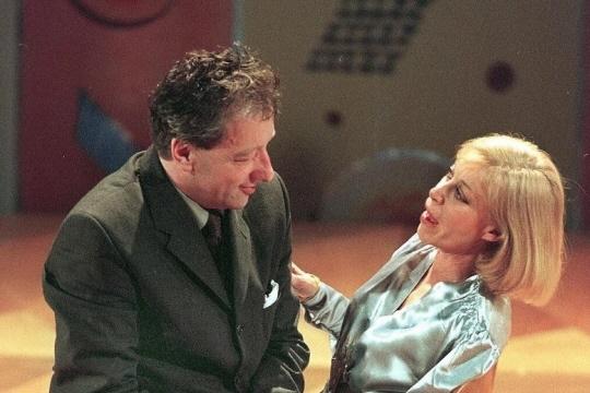 """Florence Giorgetti, en 1998, dans le rôle de """"Rosa"""", au côté de Jean-Jacques Moreau. Photo archives AFP"""